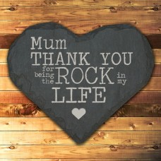 Personalised Thank You Mum Slate Heart  Keepsake